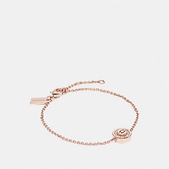 29d889ccc2c84 Coach Pave Pendant Bracelet - Rose-gold NWT NWT